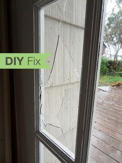 Diy Fix How To Repair A Broken Glass Door Pane Window Glass Repair Window Glass Replacement Glass Door