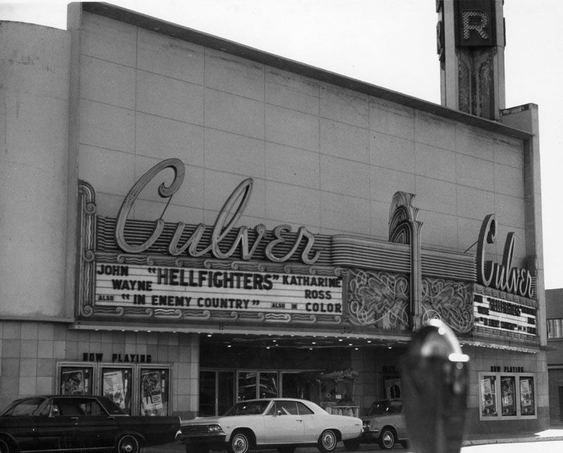 Westside Historic The Culver Theatre Located At 9820 Washington Boulevard In Culver City In 1969 Source Lapl Org Movie Marquee Culver City Vintage Movies