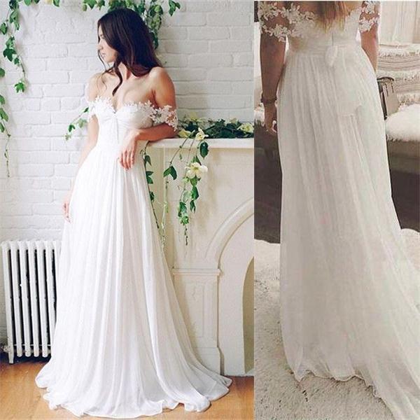 Beach Wedding Dress Summer Wedding Dress Flowy Wedding Dress Lace Top Wedding Dress Ws076 Lace Beach Wedding Dress Affordable Bridal Dresses Custom Wedding Gown