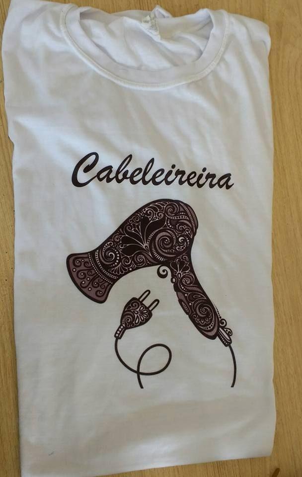 56e68043c Camiseta Cabeleireira Secador