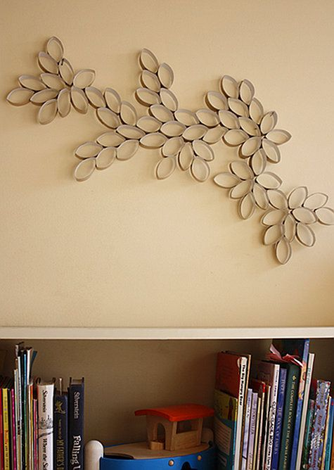 toilet paper roll wall decor