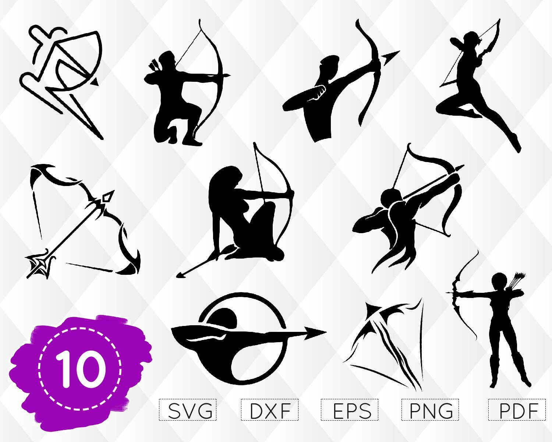 Arrow Svg Archery Svg Bow /& Arrow Vector Art Jpg Cut File Clipart Svg Dxf Eps Bow Svg Png