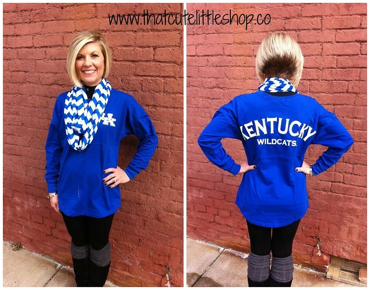 University Of Kentucky Ladies Sweatshirt Low Cut Neck