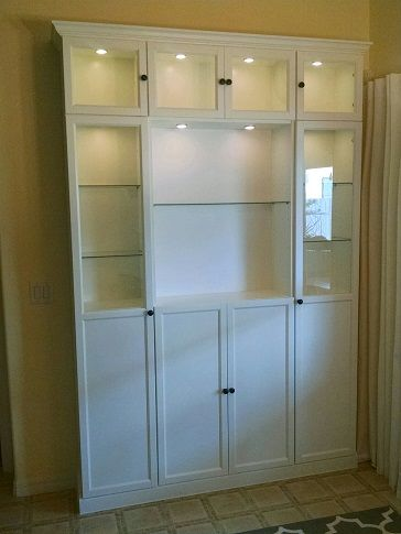 Modern China Cabinet An Ikea Billy Hack Ikea Hackers