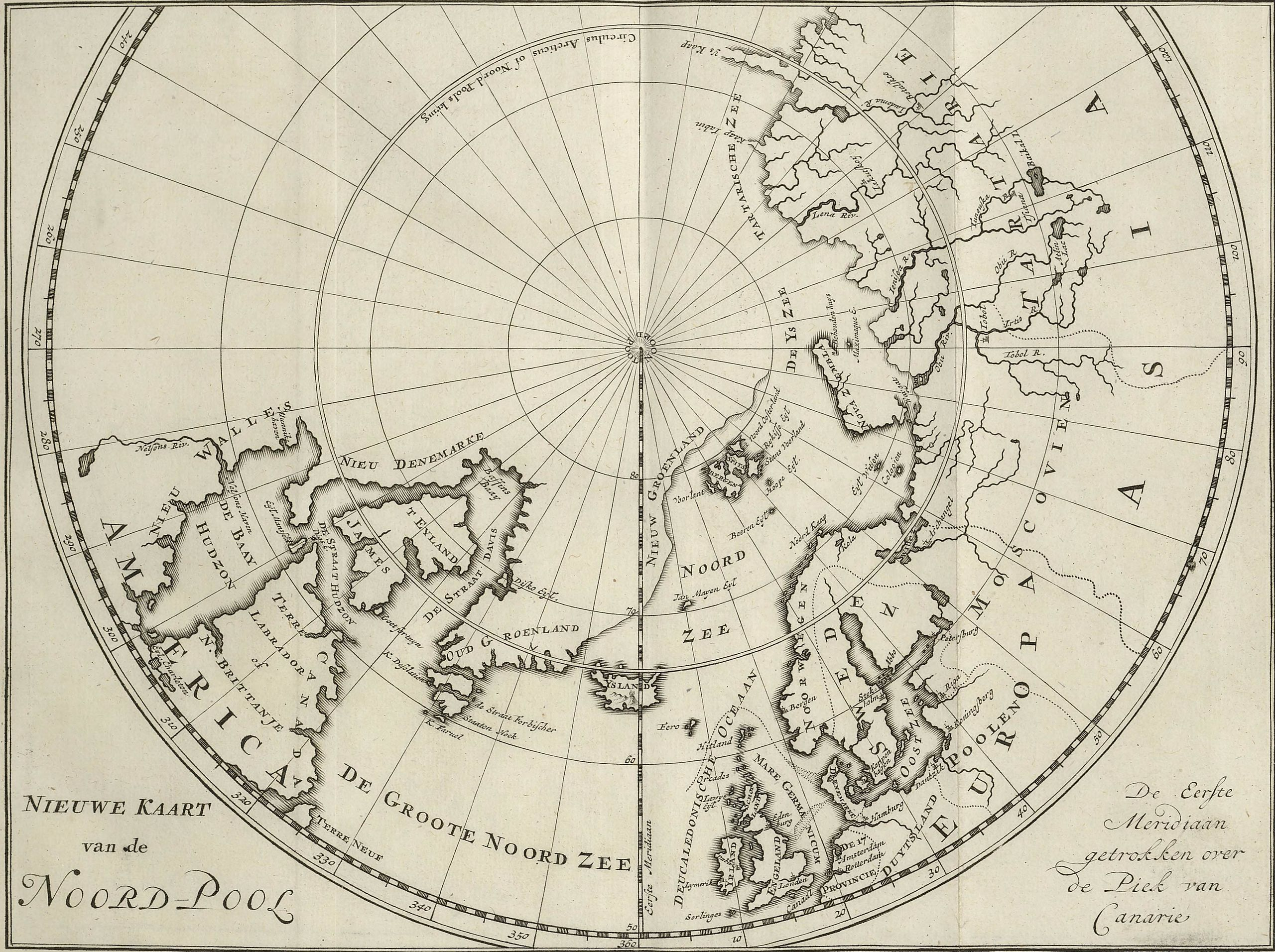 C G Zorgdragers Map Of The North Pole From In