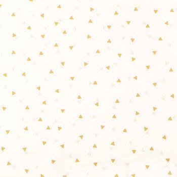 Gold & Off White Mini Triangle Apparel Fabric