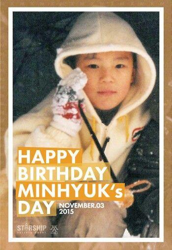 Happy Birthday Minhyuk Monsta X Monsta X Minhyuk Minhyuk