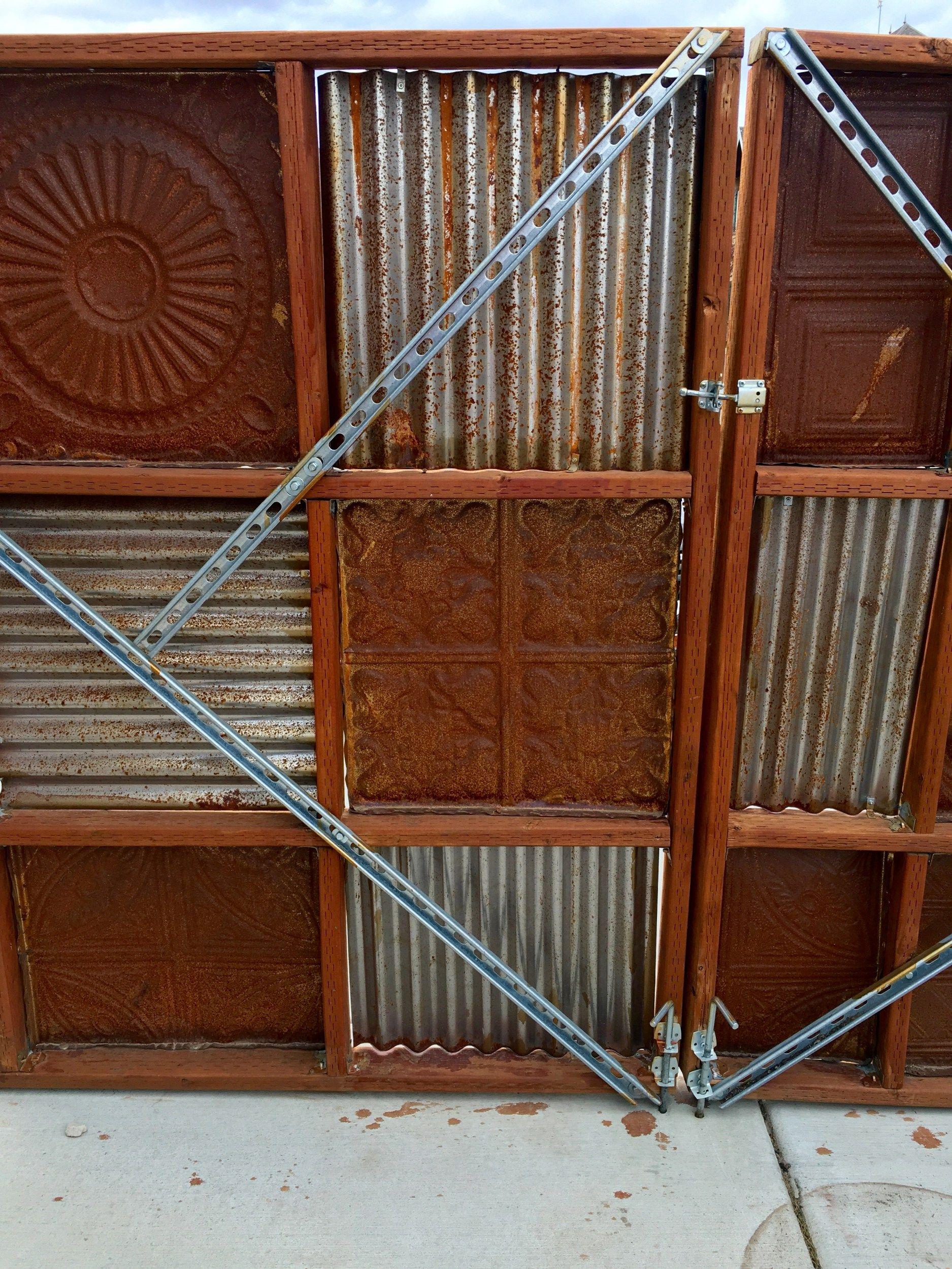 Tin Ceiling Tiles In Fence Backyard Pinterest Tin Ceilings
