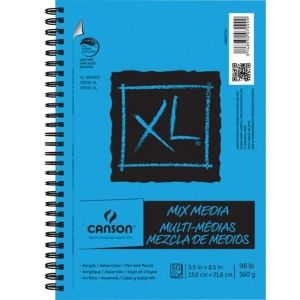 Canson Xl Series Mix Media Pad Canson Xl 5 1 2 X 8 1 2 Mix Media Pad Side Wire Wire Bound