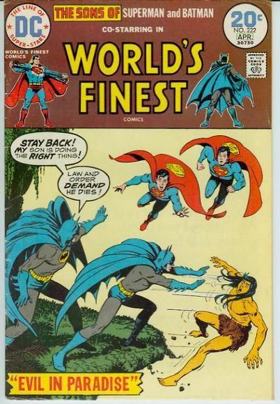 Sons of Superman & Batman DC Comic Book