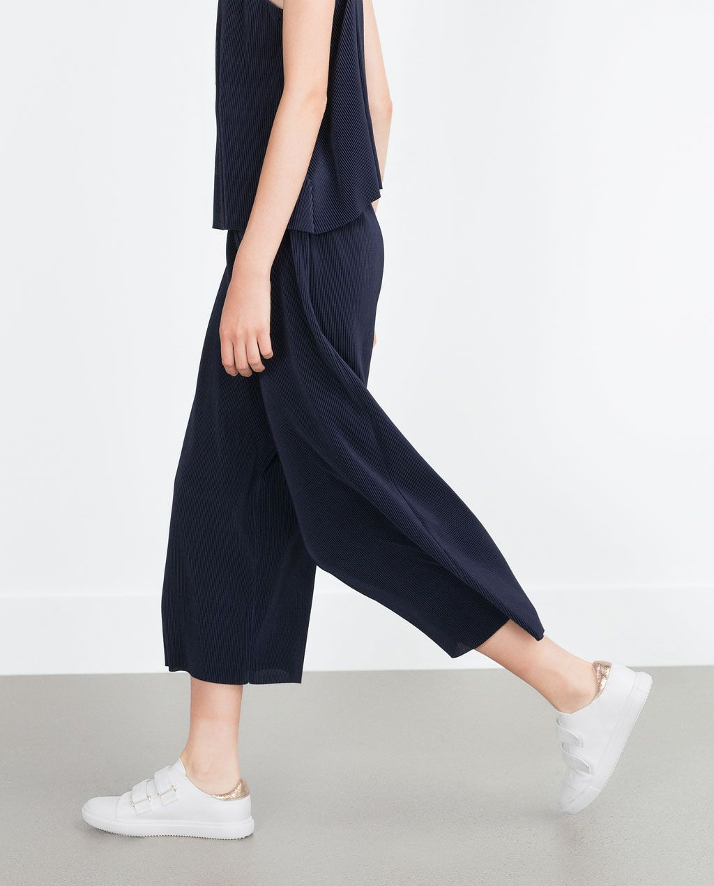 ZARA - COLLECTION AW15 - PLEATED TROUSERS