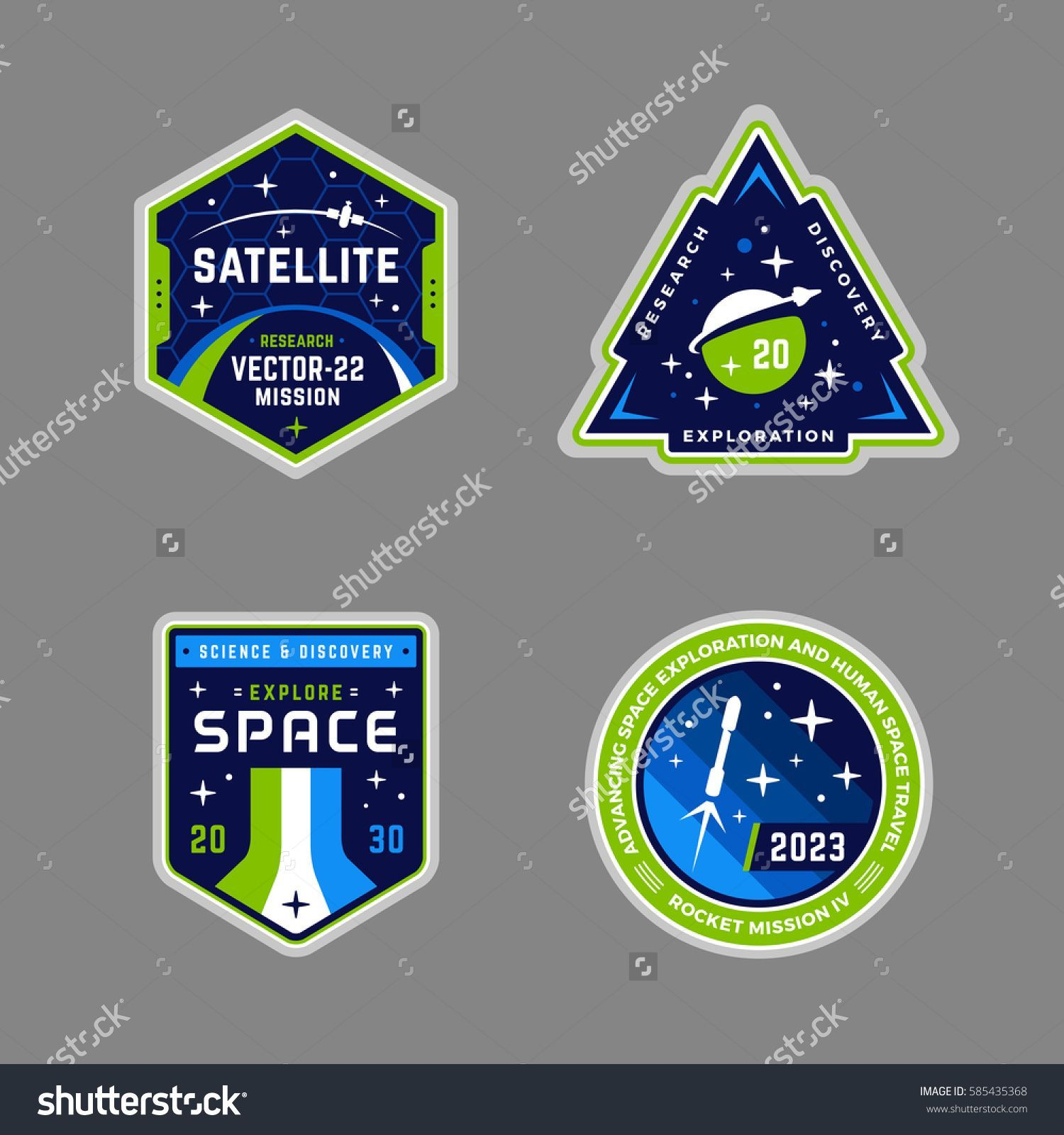 Resultat De Recherche D Images Pour Space Satelite Logos Badge Template Badge Logo Badge Design
