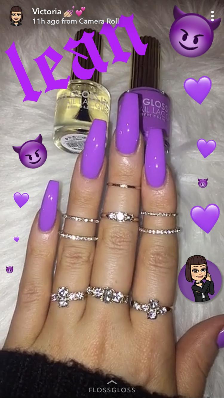 Pin By Nadia Cellamare On Acrylic Nails Cute Acrylic Nails Purple Acrylic Nails Purple Nails