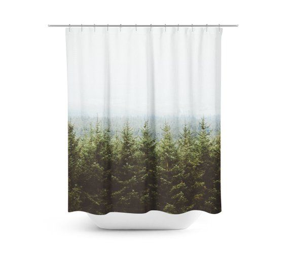 Shower Curtain, Pine Trees Forest Woodland Nature Rustic, Bathroom Shower Curtain, Wanderlust Decor, Forest Shower Decor – ADVERTISE your SMALL Business HERE!