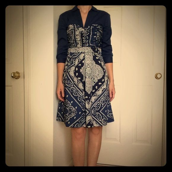 aaf030beb9718 Anthropologie Dresses · Size 2 · Chic · Anthro Bandana Dress Final price  drop! Funky chic meets practical (it has pockets!