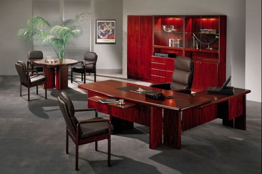 Commodore Contemporary Office Furniture Red Heart Color