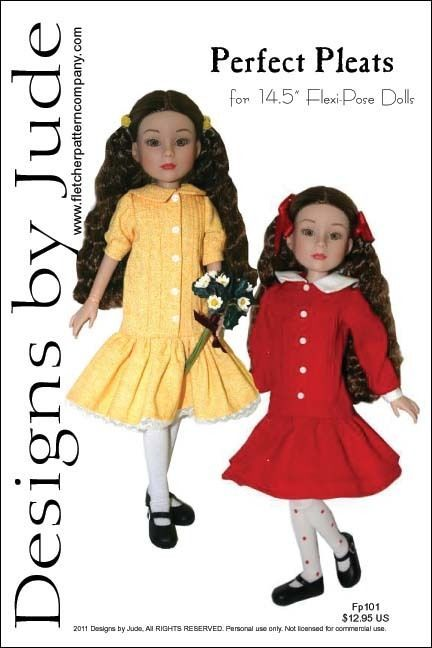 """Clever Girl Doll Clothes Sewing Pattern for 14.5/"""" Flexi Pose Dolls Tonner"""