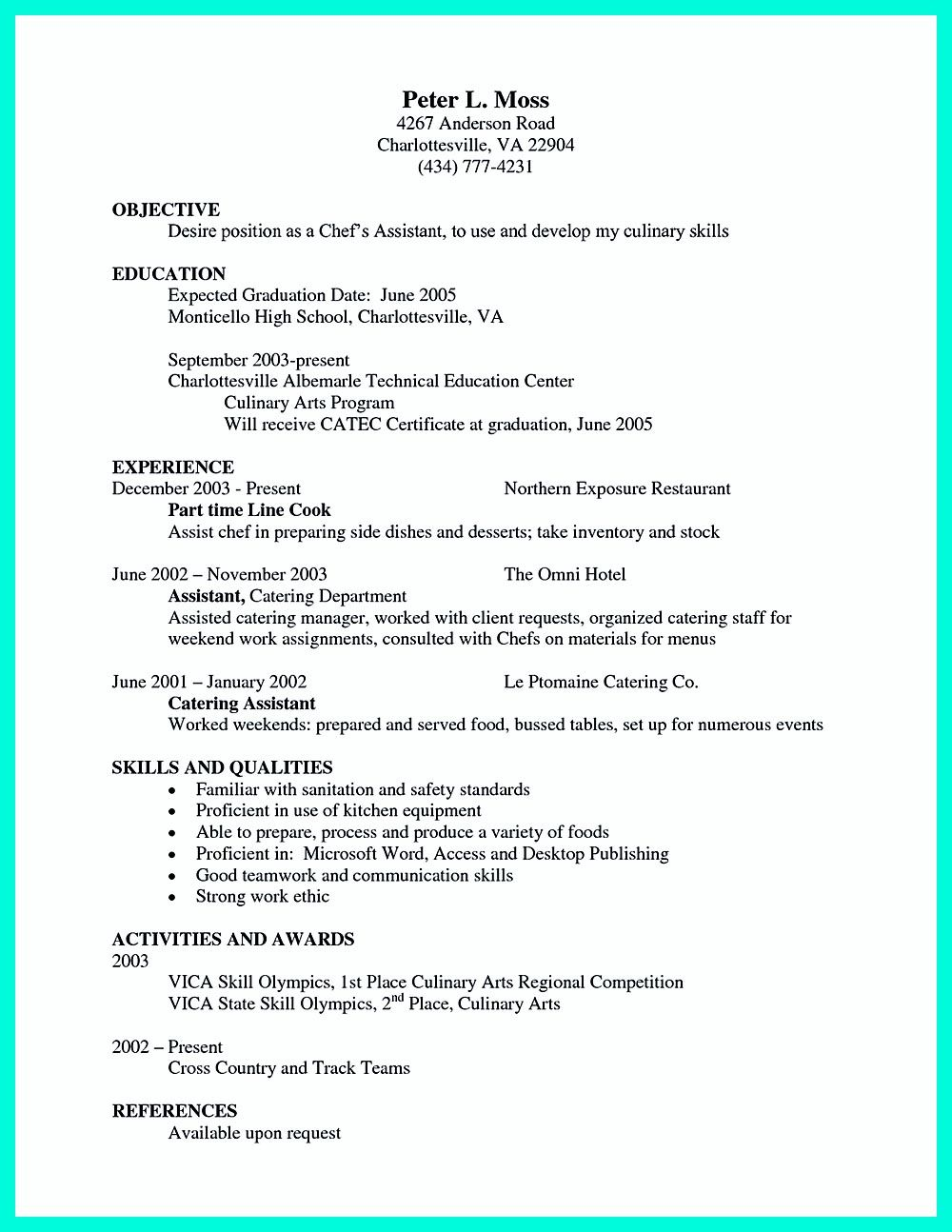in writing a resume you need to clear and exact do not waste every chef resumeresume skillspastry - Chef Resume Skills