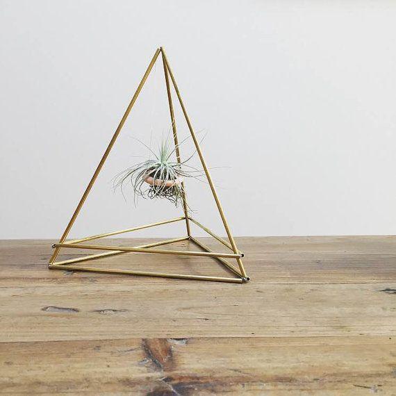 Latón Himmeli pirámide 3 grande Jardinera por SproutFriends