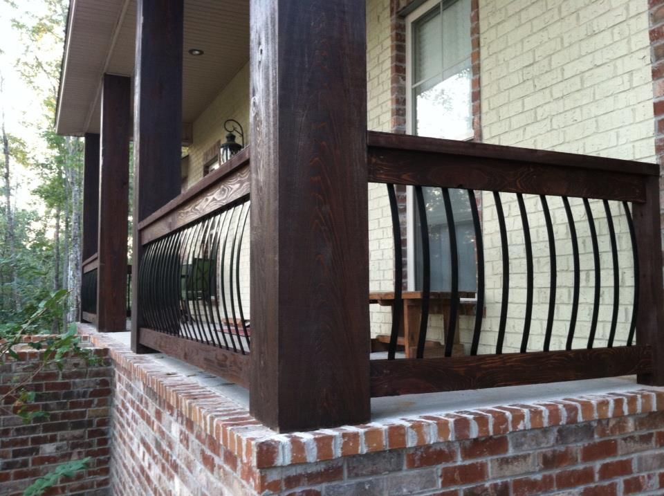 Balusters from home depot for Front balcony railing