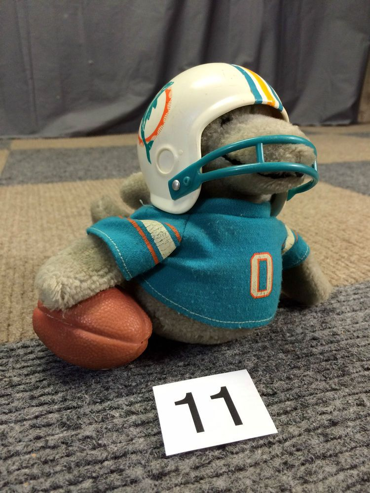 Miami Dolphins Vintage 1983 Tudor Huddles Nfl Team Mascot Plush Doll
