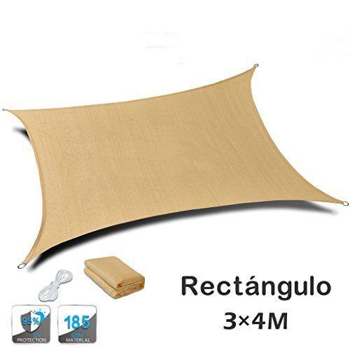 jarolift toldo vela rectangular repelente al agua 300 x 200 cm beige - Toldo Vela Rectangular