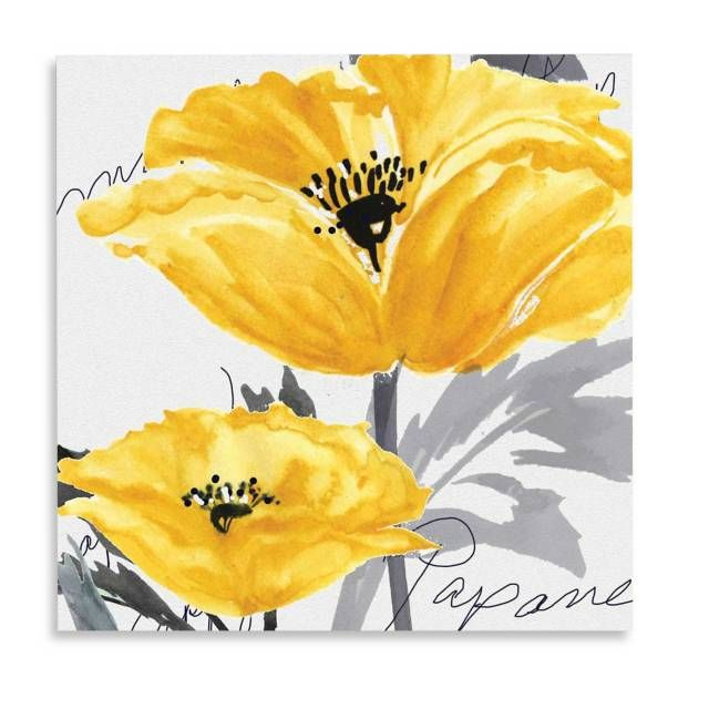 product image for Yellow Poppy I Canvas Wall Art | bedroom ideas ...