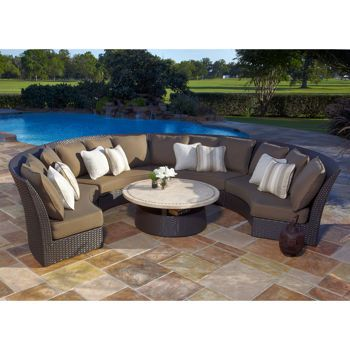 Costco Veranda Clics Bali 5 Piece Sectional Set By Foremost Patio Furniture
