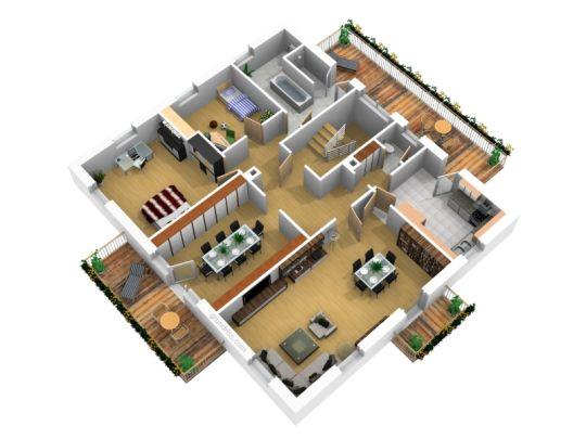 Lichtdurchflutete Komplett Sanierte Schicke 4 Zi Wohnung Mit 3 Balkonen Im Rodgebiet Wohnung Etagenwohnung Grundriss