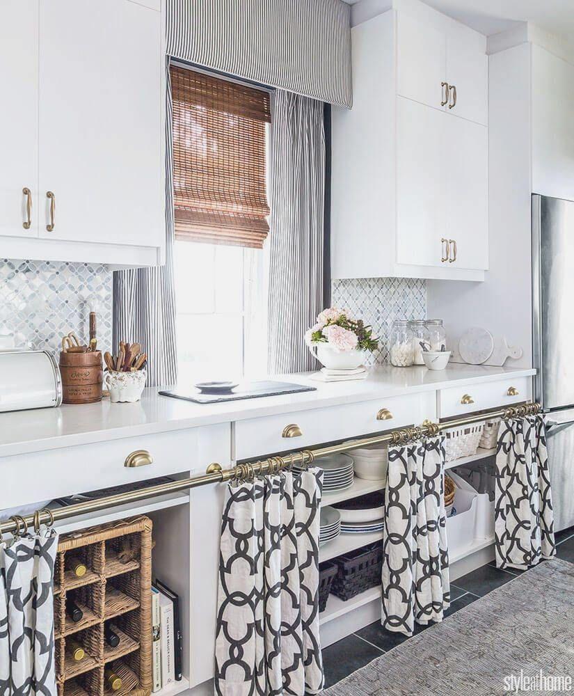 Modern Kitchen Curtains in 2020 Open kitchen