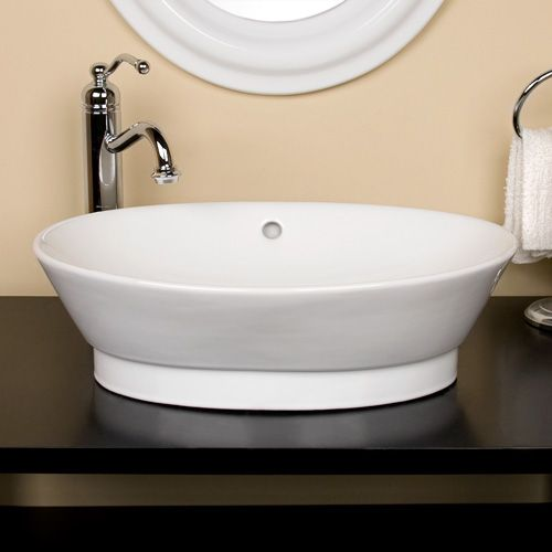 Angelo Vitreous China Vessel Sink  White