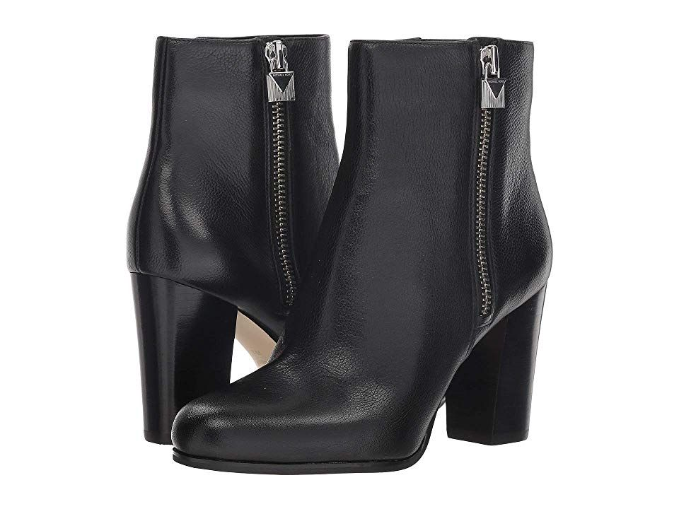 lowest discount price reduced 100% genuine MICHAEL Michael Kors Margaret Bootie (Black Tumbled Leather ...