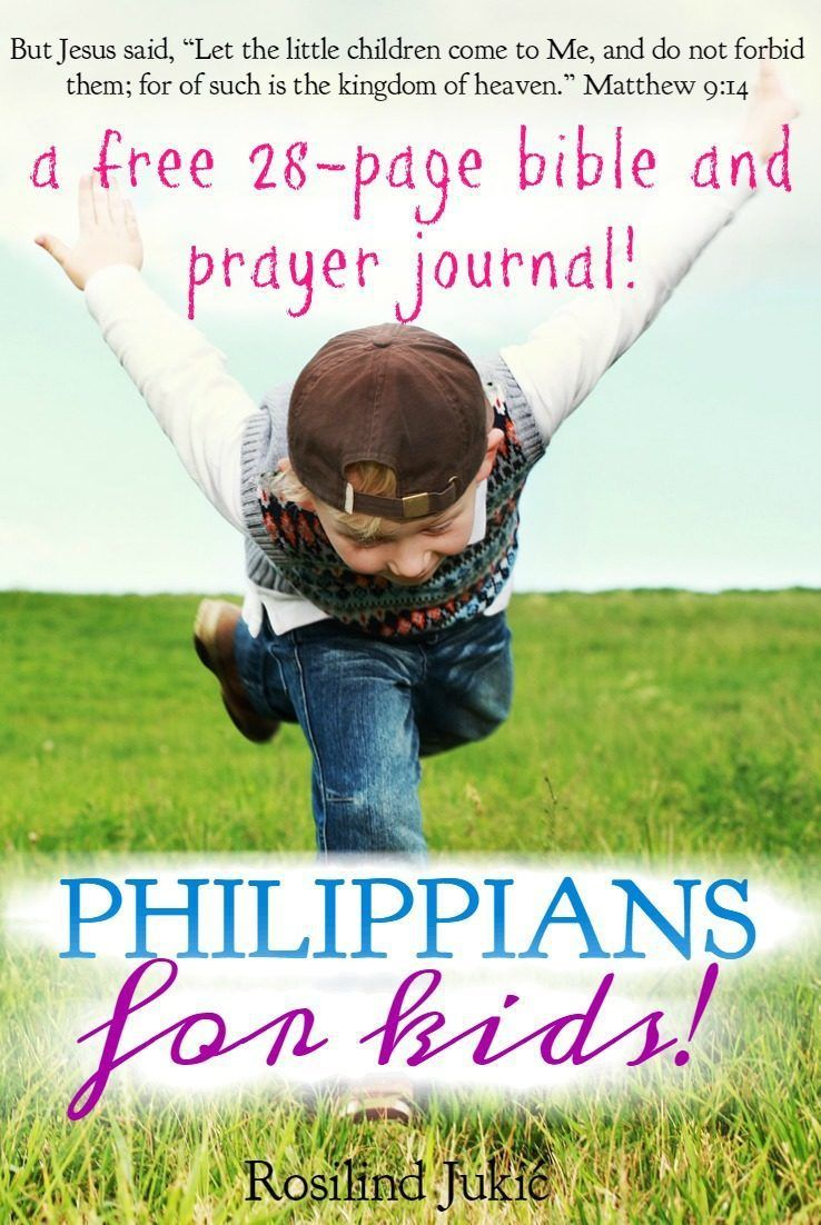 30 Day Prayer Challenge for Philippians | Kids bible studies, Bible ...
