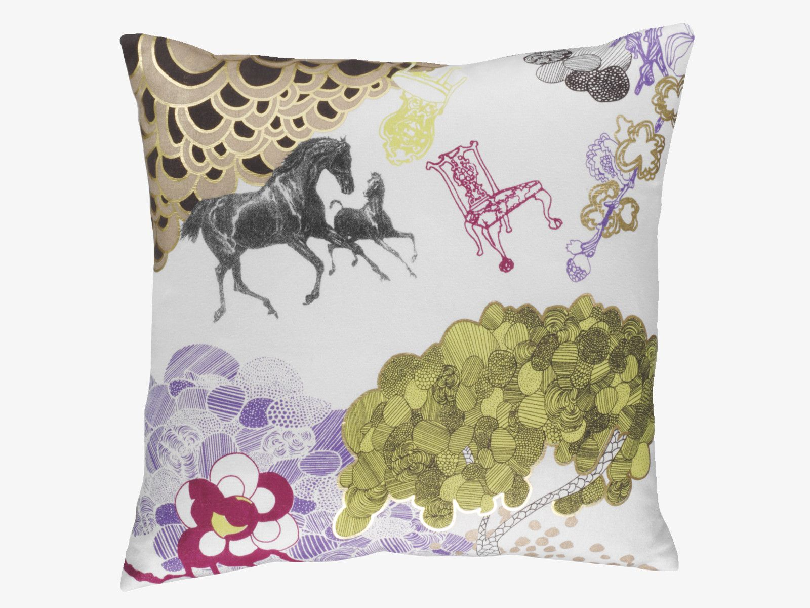 CONCETTA graphic imagery cushion Cushions, Pillows