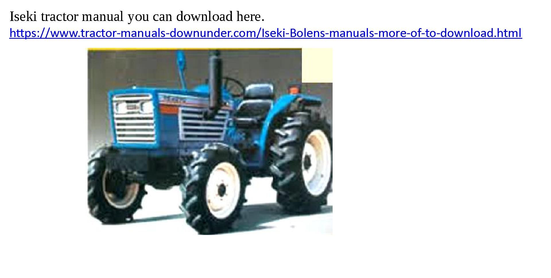 ... Array - iseki manuals to download tractor manuals you can download rh  pinterest com