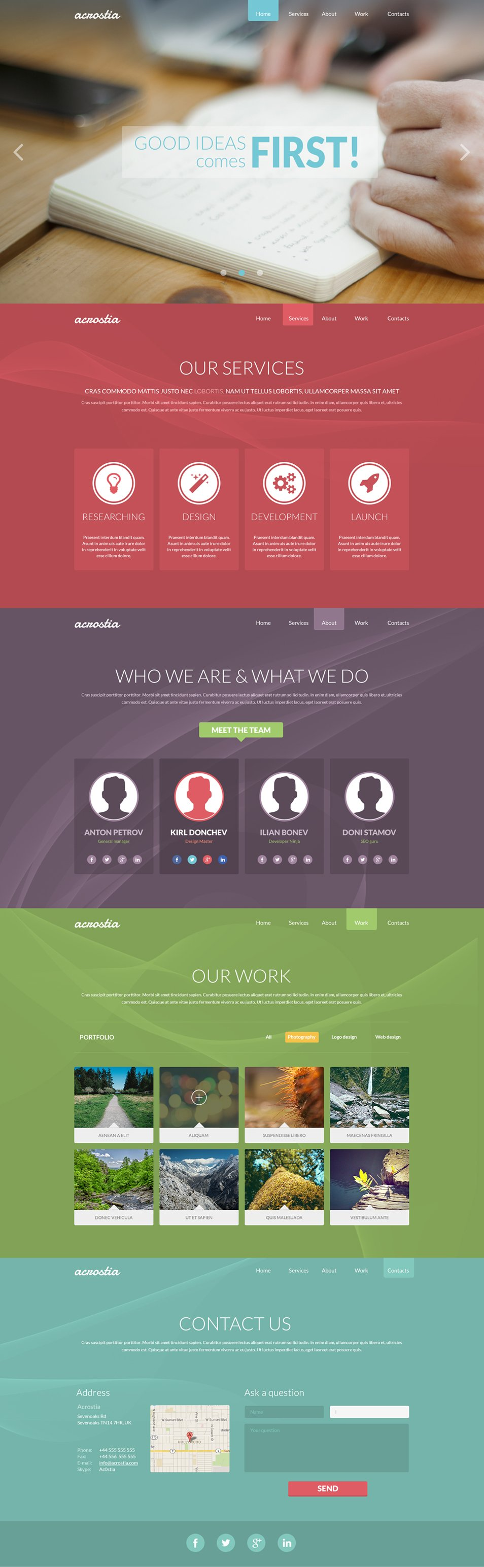 Free Web Templates From 2017 Css Author Web Design Web Development Design Web Layout Design