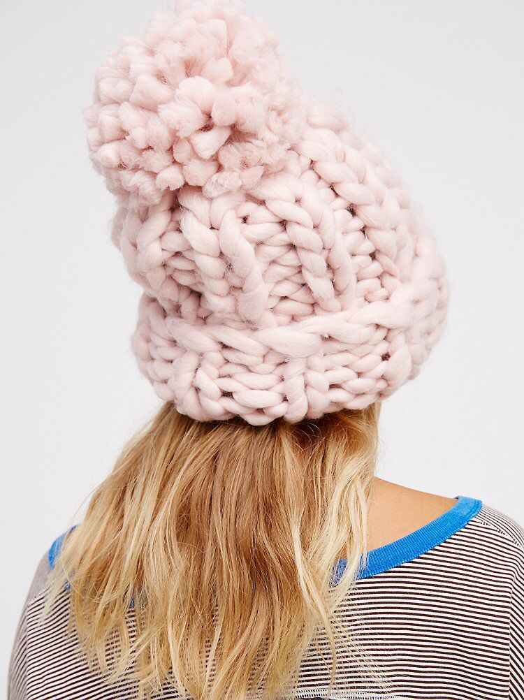 bd71f033a Bobbi Chunky Pom Beanie   [ wi$hlist ]   Chunky knitting patterns ...