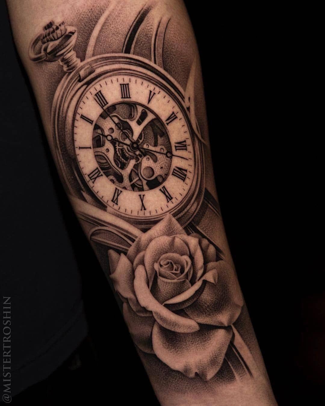 Easy Half Sleeve Tattoos Halfsleevetattoos Half Sleeve Tattoo Tattoo Sleeve Men Pocket Watch Tattoo Design