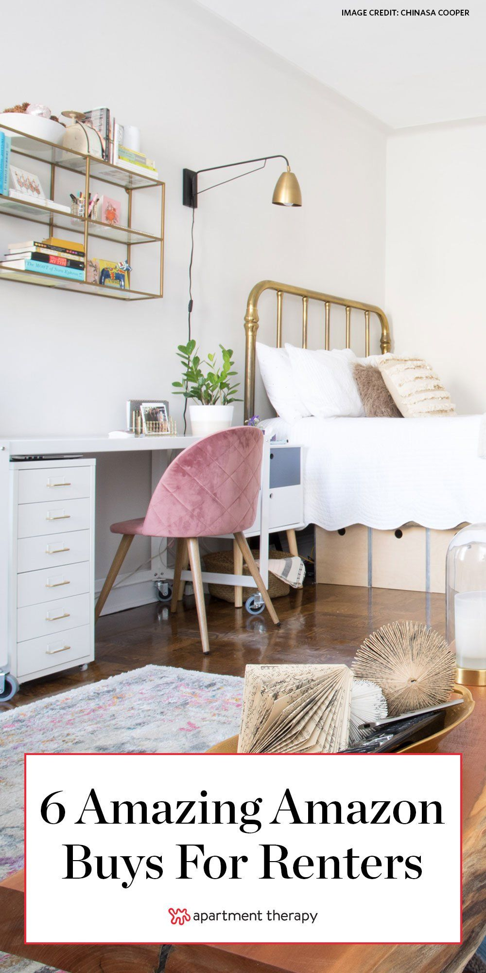 6 Amazon Buys That Make Rental Life So Much More Bearable Starting At 4 Small Spaces Home Decor Home Decor Accessories