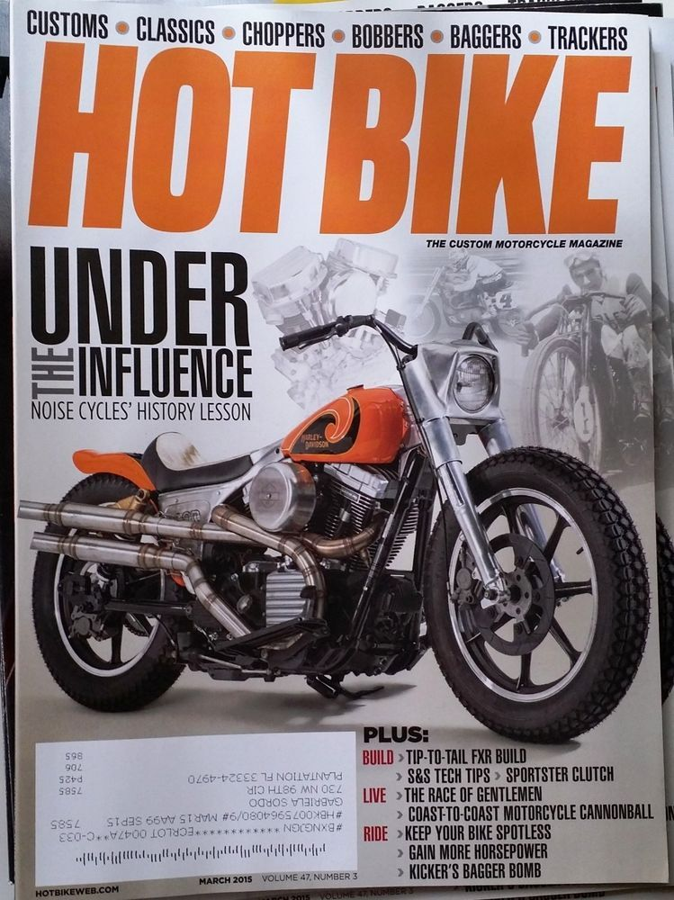 Hot Bike March 2015 Harleys Baggers Bobbers Board Trackers