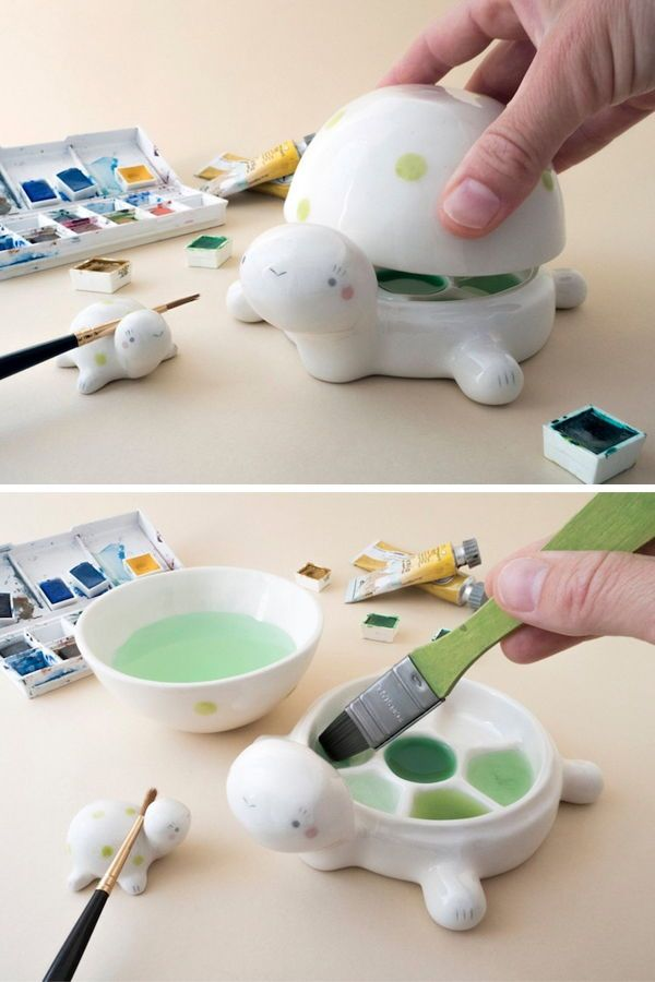 Photo of These Adorable Ceramic Paint Palettes Are the Perfect Companions for Your Art Studio
