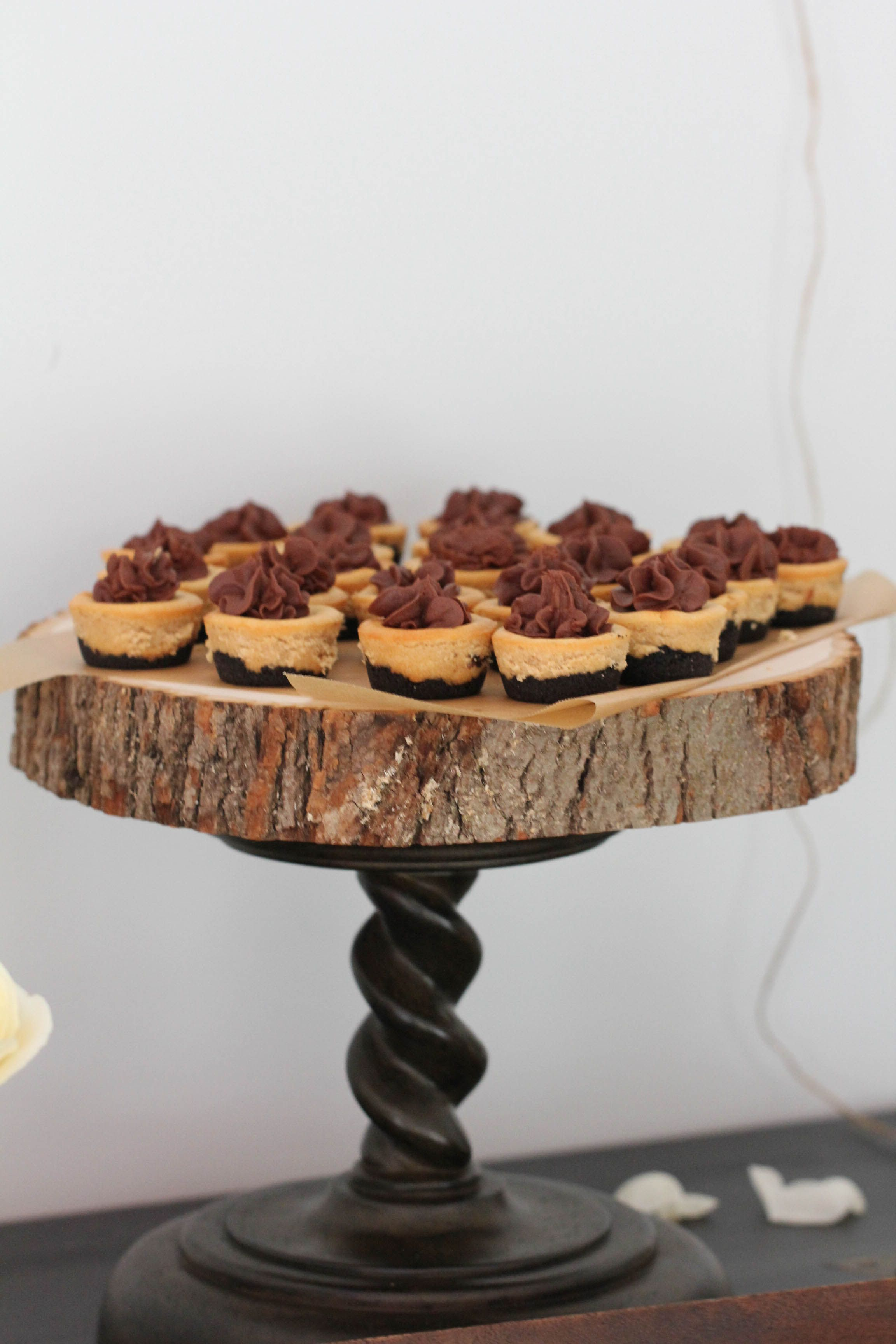 Mini Peanut Butter Chocolate Cheesecakes Bridal Shower