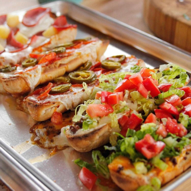 French bread pizzas recipe with images food network
