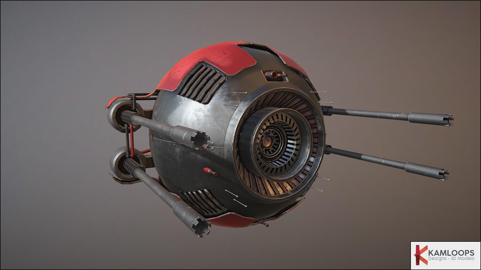 artstation sci fi drone lowpolysurvival yohann lereclus artgame pinterest models