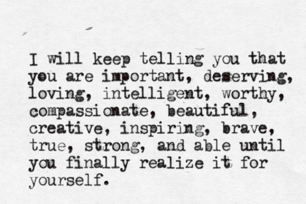 I will keep telling you....