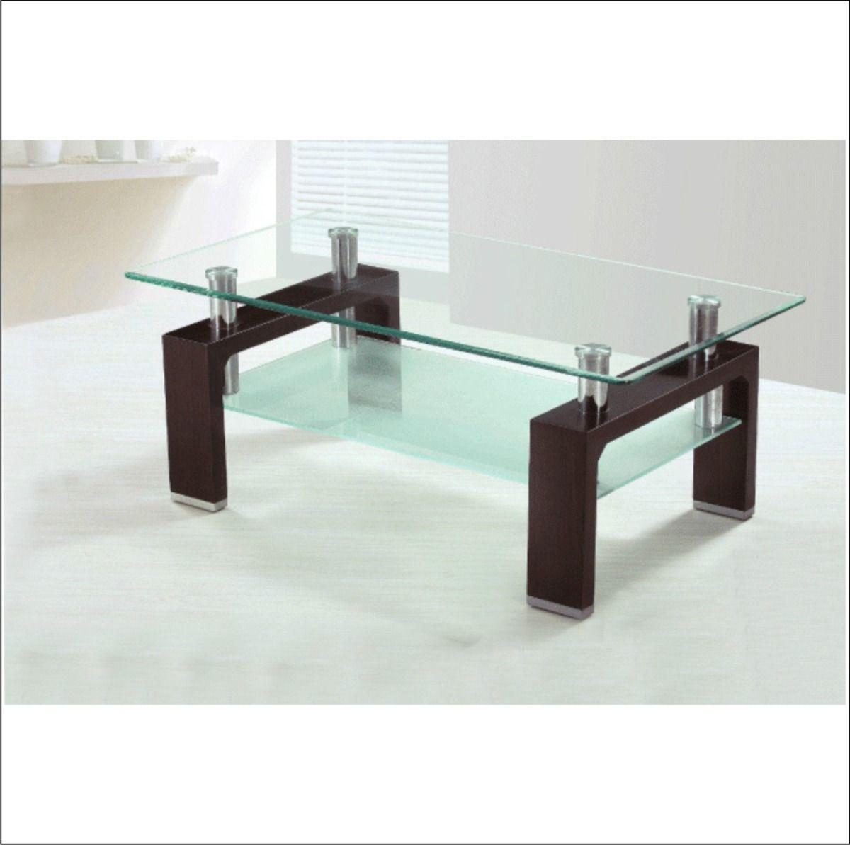 Mesa ratona moderna vidrio acero inoxidable cromada outlet for Modelos de mesas de vidrio