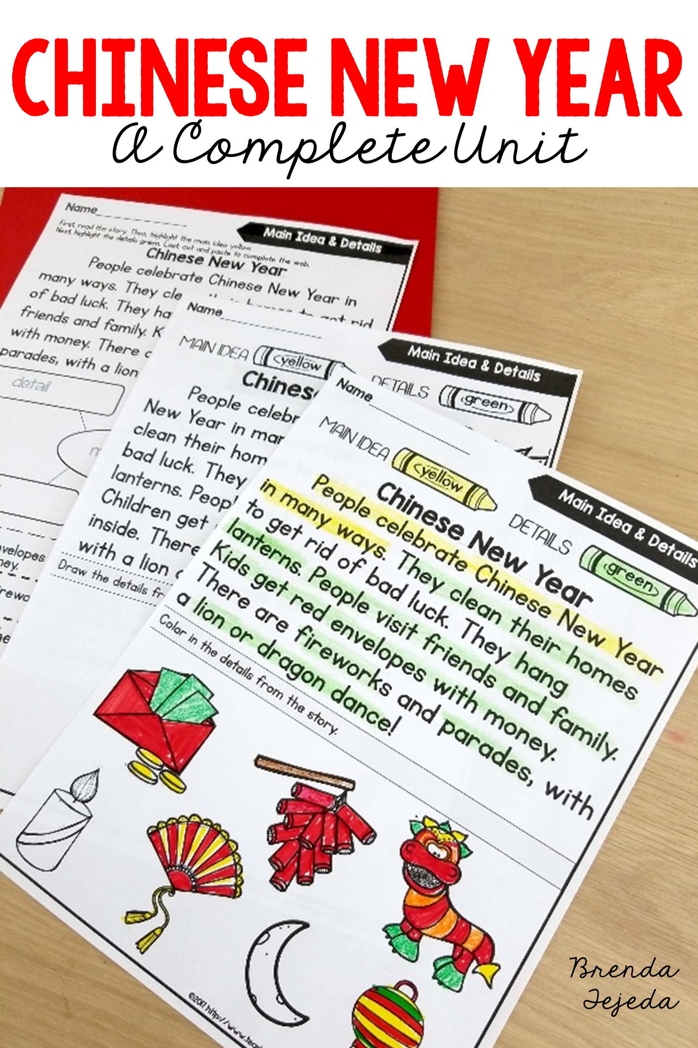 Chinese New Year: Fact Cards, Printables, Crafts, Dragon, Writing ...