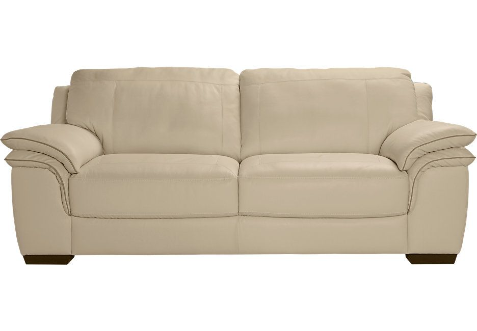 Excellent Cindy Crawford Home Grand Palazzo Beige Leather Sofa From Squirreltailoven Fun Painted Chair Ideas Images Squirreltailovenorg