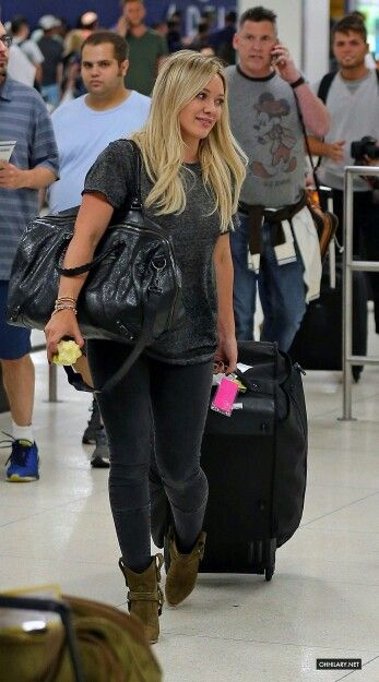 Still fly after a long flight <3 For more style inspiration, watch Hilary Duff in season 1 of Younger on TV Land at http://www.hulu.com/younger.