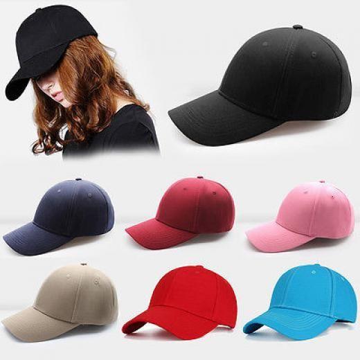 Fashion Men Women Baseball Cap Solid Hat Hip-hop Adjustable Bboy Casual  Caps Cotton + c7ba33cbedfe